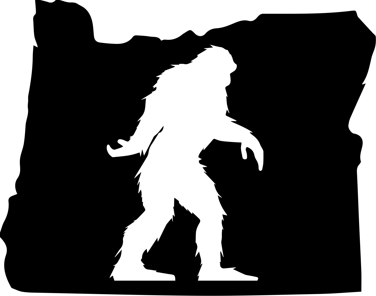 Oregon Bigfoot Sticker Redneck Sticker