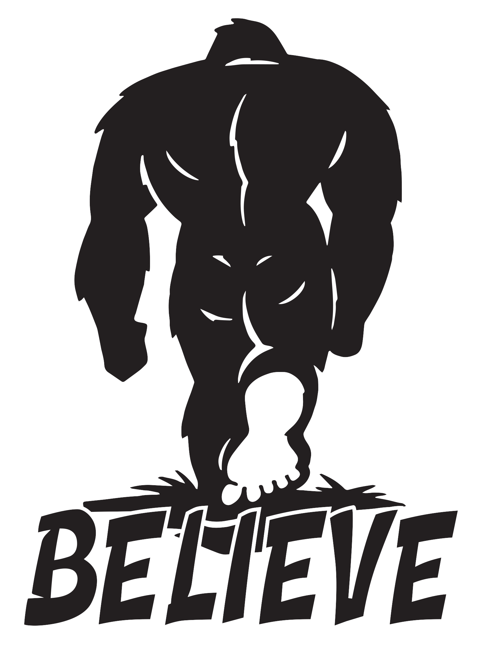 Believe Bigfoot Decal Redneck Sticker